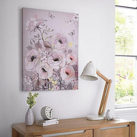 Graham & Brown Beige Watercolour Bloom Canvas Wallart  At Inside House Of Fraser Canvas Wall Art (Image 8 of 20)
