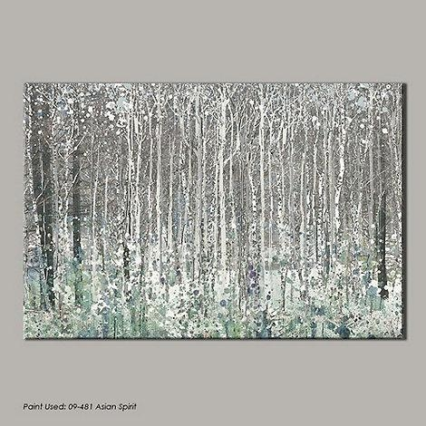 Graham & Brown Blue Watercolour Woods Canvas Wallart  At Debenhams Inside Blue And Brown Canvas Wall Art (Image 11 of 20)