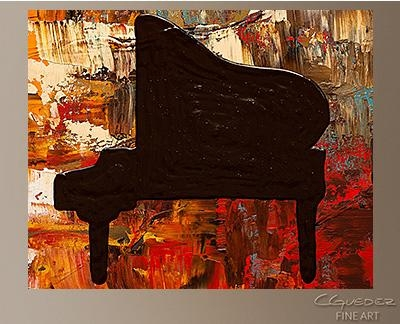 Grand Piano – Abstract Painting On Canvas – Music Abstract Art For For Abstract Piano Wall Art (Image 11 of 20)