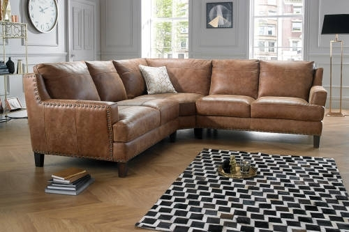 Great Leather Corner Sofa With Corner Sofas In Leather Fabric In Leather Corner Sofas (Image 2 of 10)