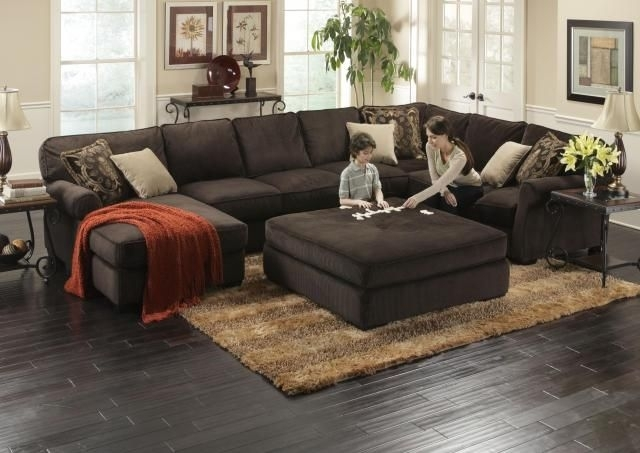 Great Modern Sectionals For Any Size Family | Ottomans, Feathers And Within Sectional Couches With Large Ottoman (Image 5 of 10)