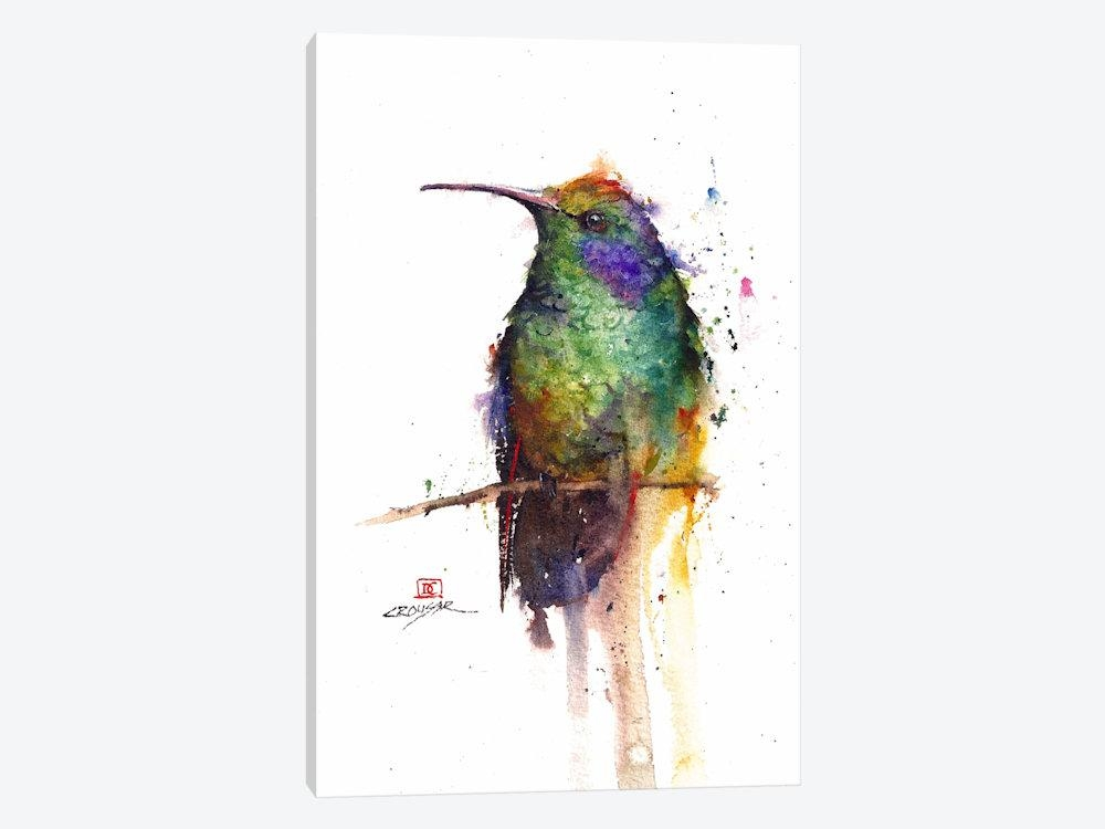 Green Bird Canvas Wall Artdean Crouser | Icanvas Inside Birds Canvas Wall Art (Image 12 of 20)