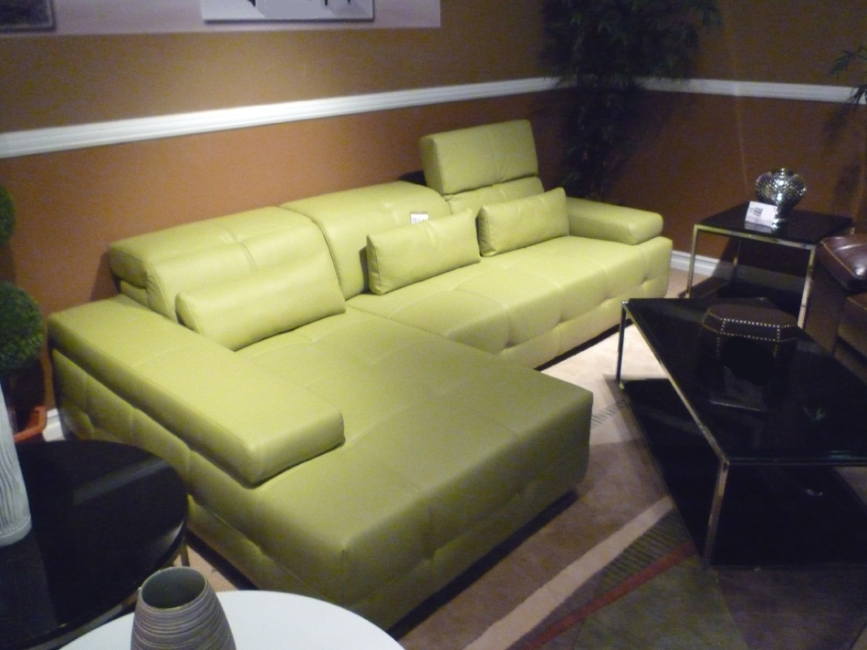 Green Sectional Sofa Bq5 | Leather Sectionals Inside Green Sectional Sofas (Image 6 of 10)