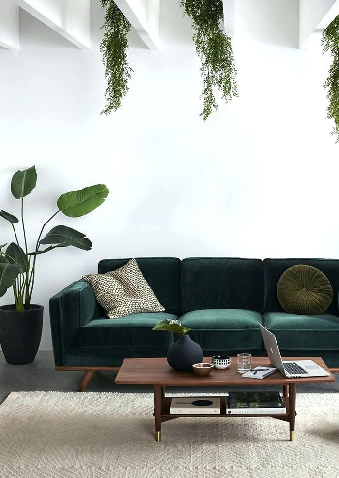 Green Velvet Sofa Or Emerald In Sofas Chairs 63 Pertaining To Couch Throughout Green Sofa Chairs (Image 4 of 10)