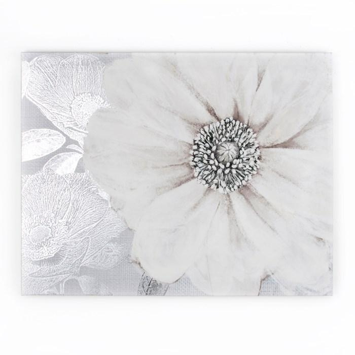 Grey Bloom Printed Canvas Wall Artgraham And Brown | House Throughout Embellished Canvas Wall Art (Image 10 of 20)