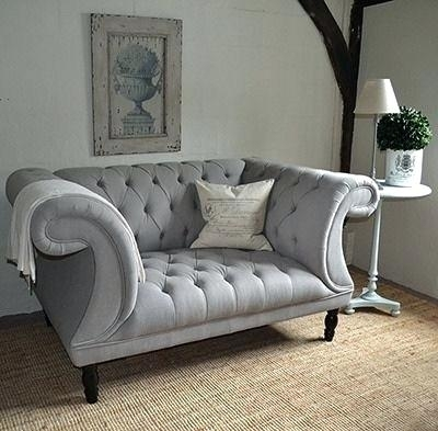 Grey Chesterfield Style Sofa – Touchsa (Image 4 of 10)
