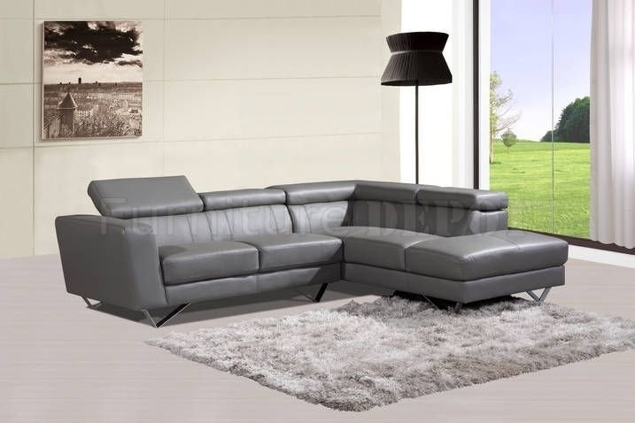 Grey Leather Sectional Sofa Gray Pertaining To Remodel 1 In Gardner White Sectional Sofas (Image 5 of 10)