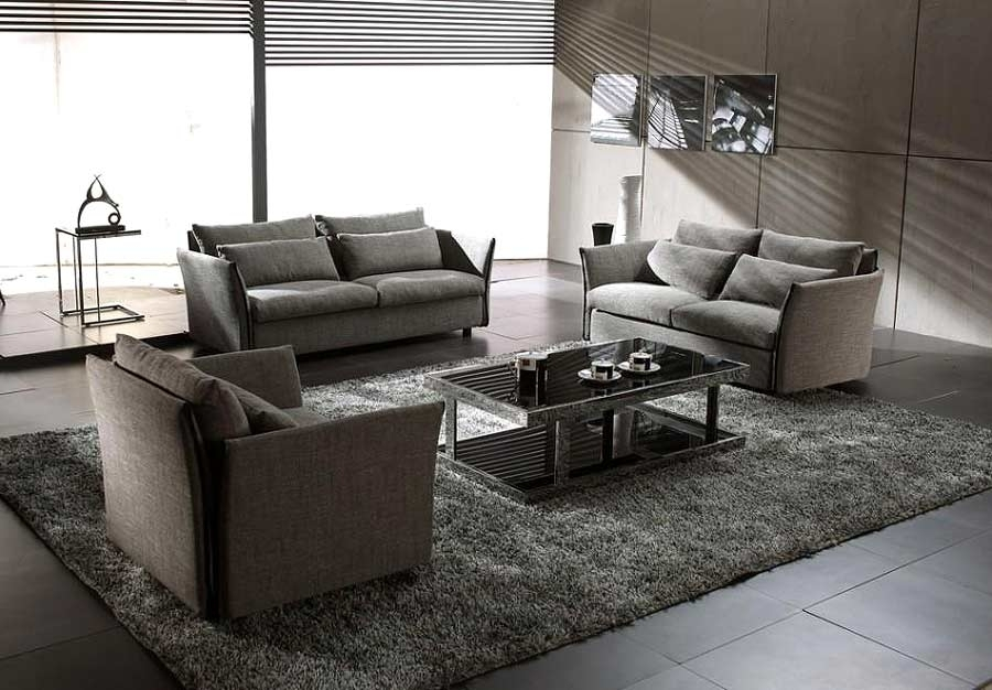 Grey Modern Contemporary Fabric Sofa Set Vg Vip | Sofas Inside Contemporary Fabric Sofas (Photo 9 of 10)
