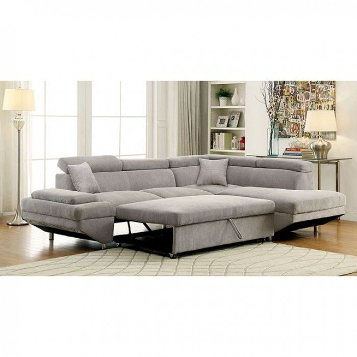 Grey Pull Out Couch Queen Sofa Bed Gray Sectional Sofas Sleeper For Adjustable Sectional Sofas With Queen Bed (Photo 7 of 10)