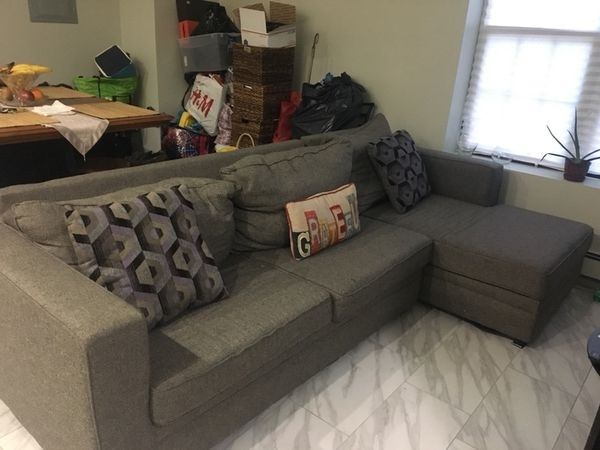 Grey Sectional Sofa $350 (Furniture) In Queens, Ny – Offerup With Queens Ny Sectional Sofas (Image 6 of 10)