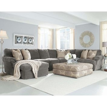 Grey Sectional With Light Blue Walls Bradley Sectional (Image 5 of 10)