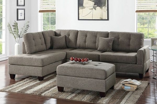 Grey Sectional With Ottoman (Furniture) In Visalia, Ca – Offerup Regarding Visalia Ca Sectional Sofas (Photo 2 of 10)