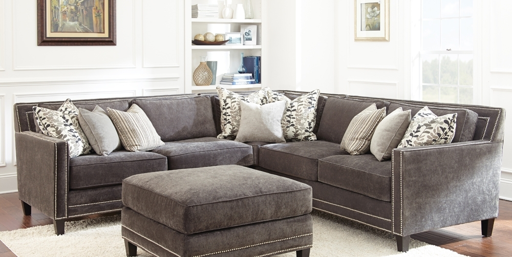 Grey Sofa With Nailheads | Buy Steve Silver Torrey Sectional In Within Sectional Sofas With Nailheads (Photo 1 of 10)