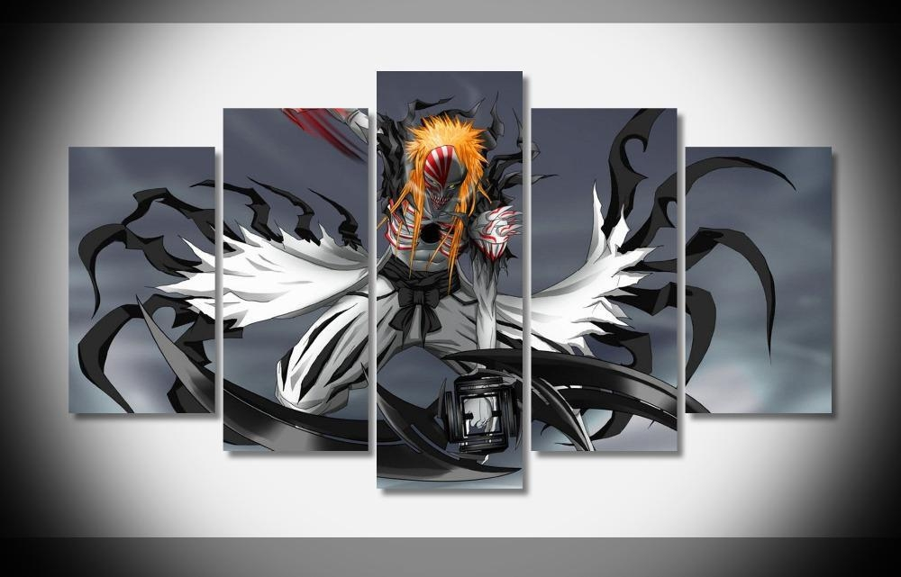 Großhandel 2546 Hohl Ichigo Bleach Anime Poster Home Deco Galerie In Anime Canvas Wall Art (Image 15 of 20)