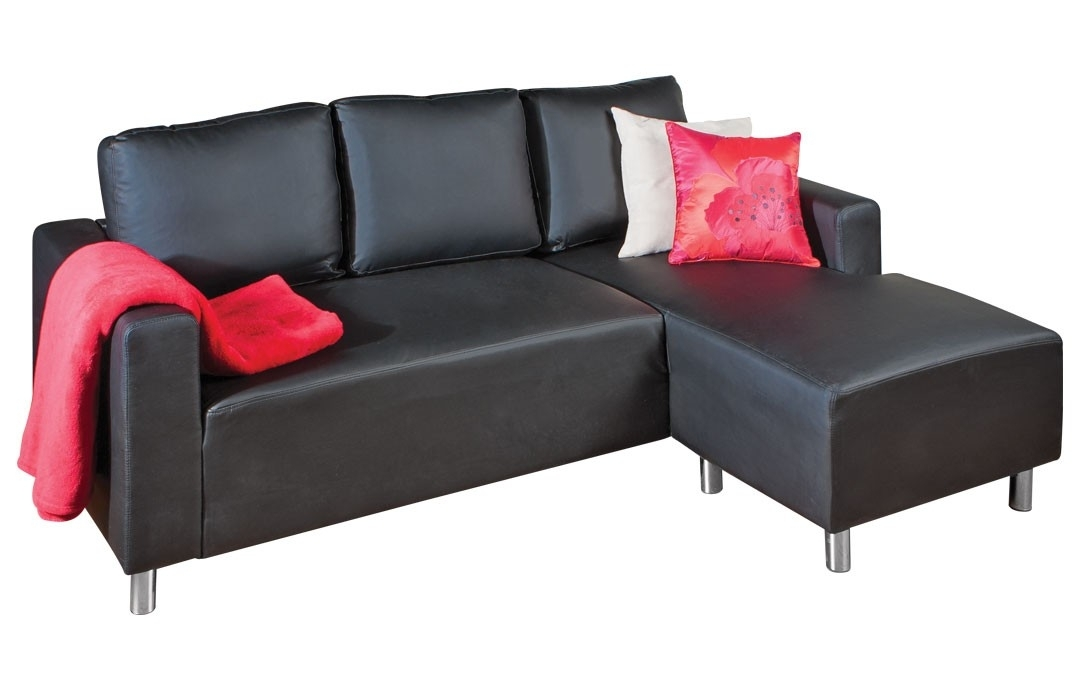 Gustav Sectional Chaise Sofa | Faux Leather Sofa, Chaise Sofa And Regarding Jysk Sectional Sofas (Image 3 of 10)