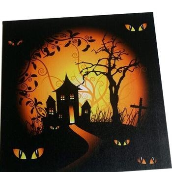 Halloween Led Canvas Light Up Frames Photo Wall Art,led Framed Art Intended For Halloween Led Canvas Wall Art (Photo 9 of 20)