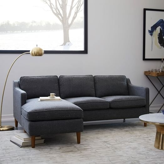 Hamilton 2 Piece Chaise Sectional | West Elm With West Elm Sectional Sofas (Image 3 of 10)