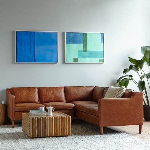 Hamilton 3 Piece Leather Sectional | West Elm With Regard To Hamilton Sectional Sofas (Image 6 of 10)