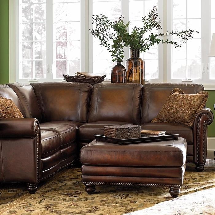 Hamilton Leather Sectional Sofabassett Furniture – Bassett With Sectional Sofas At Bassett (View 6 of 10)