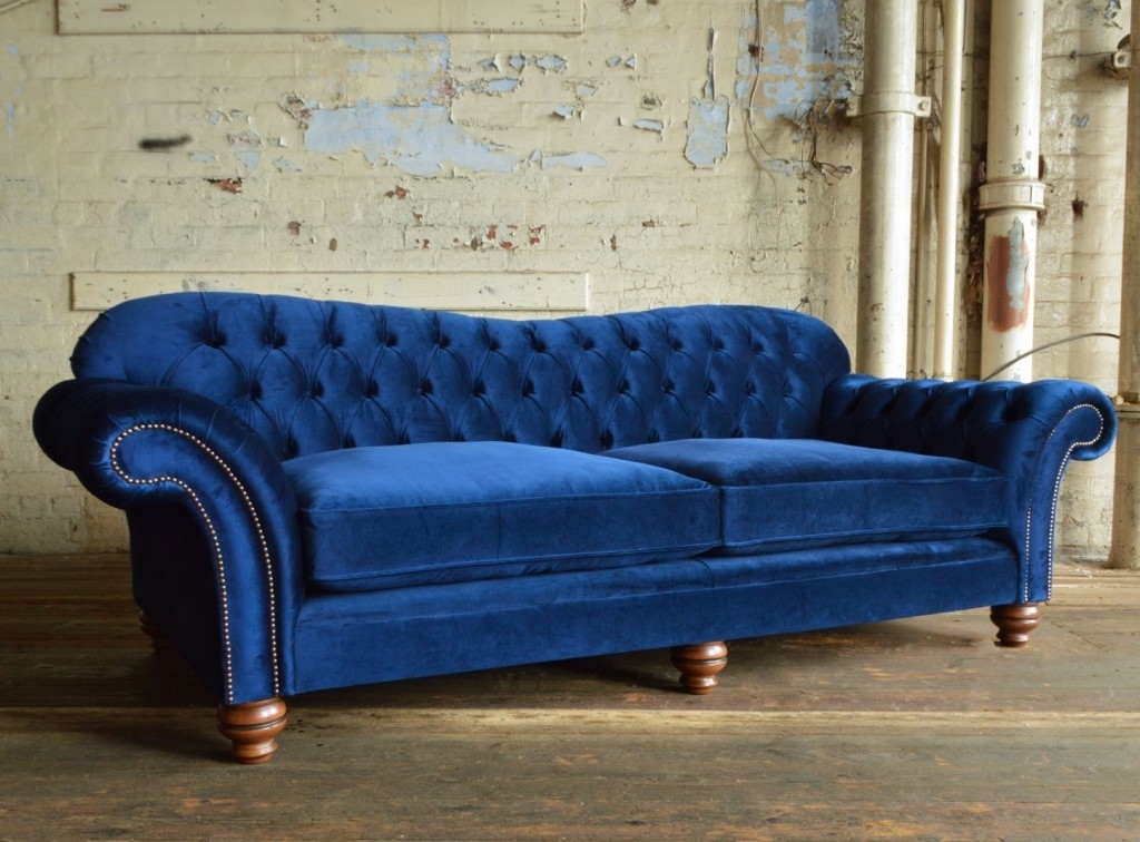 Hammersmith Velvet Chesterfield Sofa | Abode Sofas With Chesterfield Sofas (Image 6 of 10)
