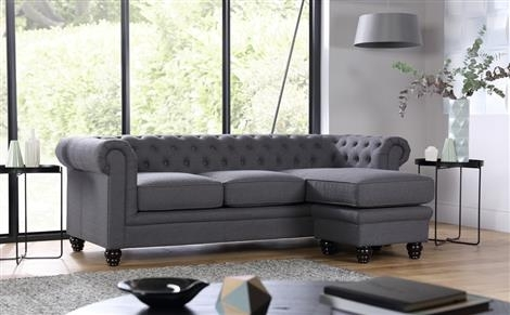 Hampton Chesterfield Ivory Leather Corner Sofa Only £ (Image 7 of 10)