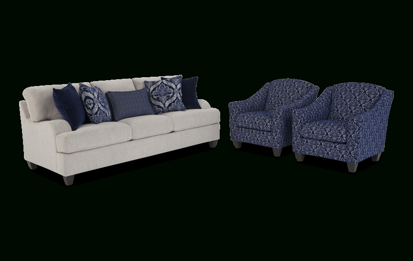Hamptons Sofa And Accent Chair Set | Bob's Discount Furniture With Sofa And Accent Chair Sets (Photo 8 of 10)