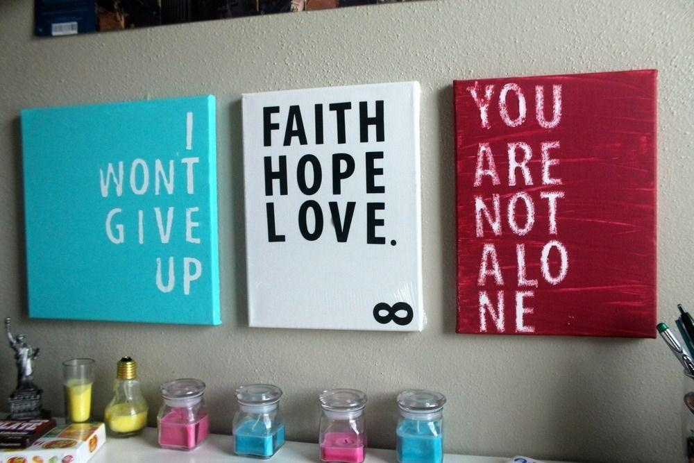 Hand Crafted Inspiration Quote Canvas Printsinfinite With Canvas Wall Art Quotes (View 5 of 20)