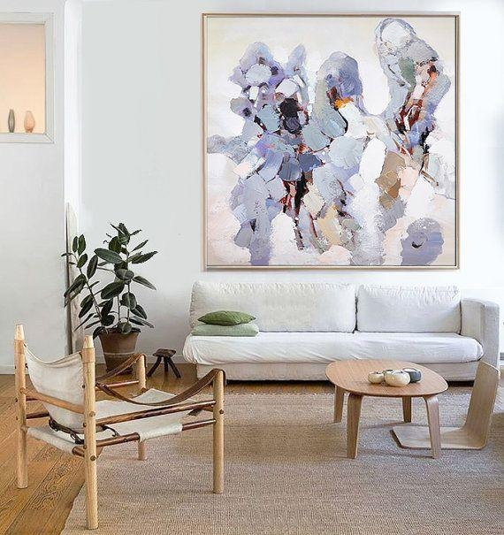 Hand Made Abstract Art, Acrylic Painting Large Canvas Art, Living Throughout Abstract Wall Art For Living Room (Image 12 of 20)