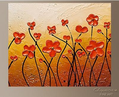 Hand Made Abstract Art For Sale – Garden Party – Buy Cheap Regarding Abstract Garden Wall Art (Image 10 of 20)