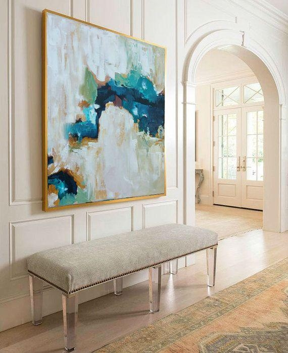 Hand Painted Large Original Painting, Abstract Art, Acrylic Intended For Neutral Abstract Wall Art (Image 10 of 20)