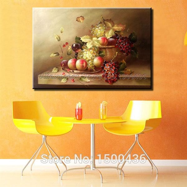 Hand Painted Modern Abstract Oil Painting Tree Of Life Canvas Wall Within Abstract Kitchen Wall Art (Image 14 of 20)