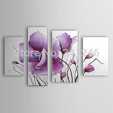 Hand Painted Modern Wall Art Picture For Living Room Home Decor Inside Lilac Canvas Wall Art (Photo 1 of 20)