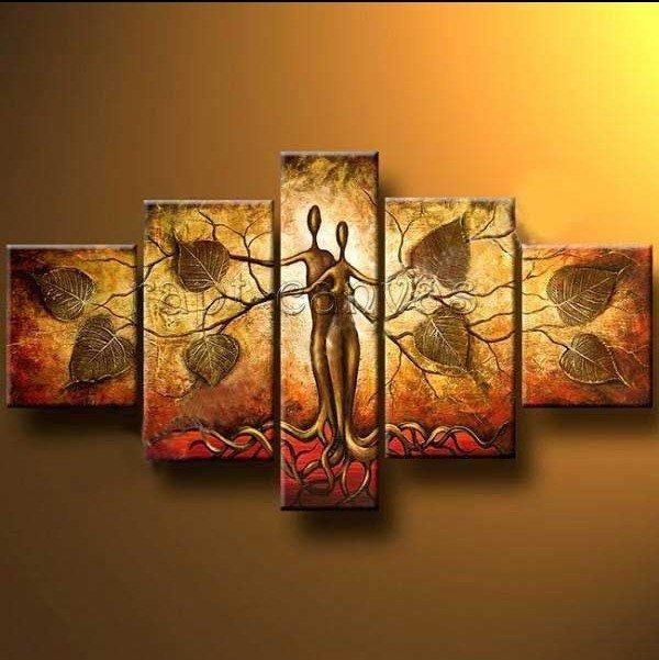 Hand Painted Outdoor Pure Fresh Home Decoration Large Canvas Art Pertaining To India Abstract Wall Art (Image 6 of 20)