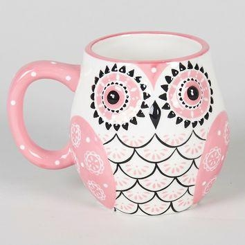 Hand Painted Owl Mug (10.8Cm) – Matalan From Matalan | Cute Mugs Throughout Matalan Canvas Wall Art (Photo 15 of 20)