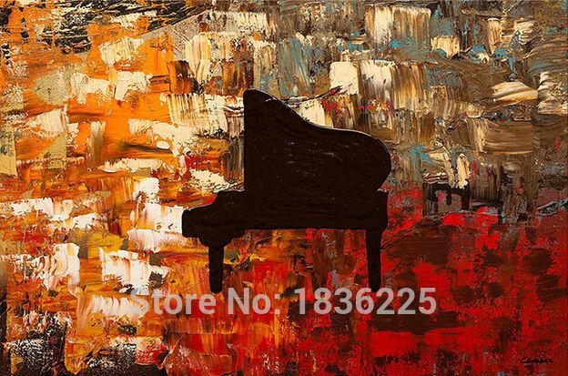 Hand Painted Wall Art Abstract Piano Oil Painting Abstract Oil With Regard To Abstract Piano Wall Art (Image 13 of 20)