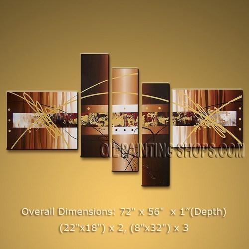 Handmade Huge Multiple Panels Wall Art For Living Room Modern For Abstract Wall Art For Living Room (Image 13 of 20)