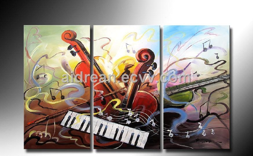 Handmade Oil Painting Music On Canvas Wall Art For Home Decoration Within Music Canvas Wall Art (View 18 of 20)