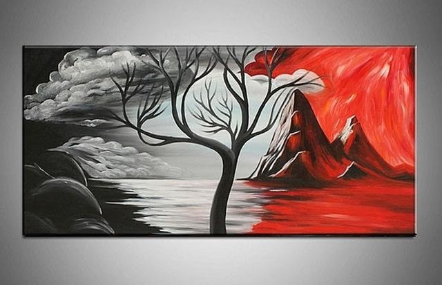 Handpainted Beautiful Modern Abstract Decorative Oil Painting Regarding Modern Abstract Oil Painting Wall Art (View 4 of 20)