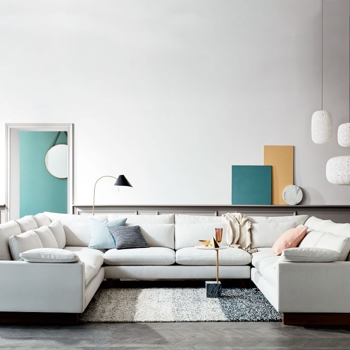 Harmony Down Filled U Shaped Sectional | West Elm Pertaining To West Elm Sectional Sofas (Image 4 of 10)