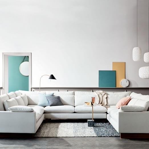 Harmony Down Filled U Shaped Sectional | West Elm With Deep U Shaped Sectionals (Image 5 of 10)