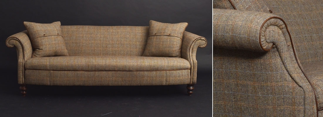 Harris Tweed Sofas | Harris Tweed Furniture With Tweed Fabric Sofas (Image 3 of 10)
