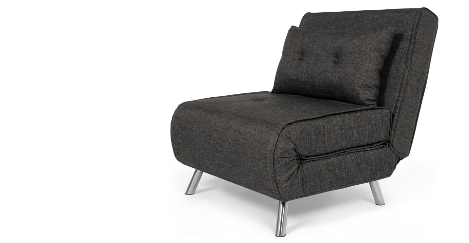 Haru Single Sofa Bed, Cygnet Grey | Made With Single Sofa Chairs (Image 2 of 10)
