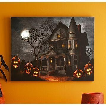 Featured Image of Halloween Led Canvas Wall Art
