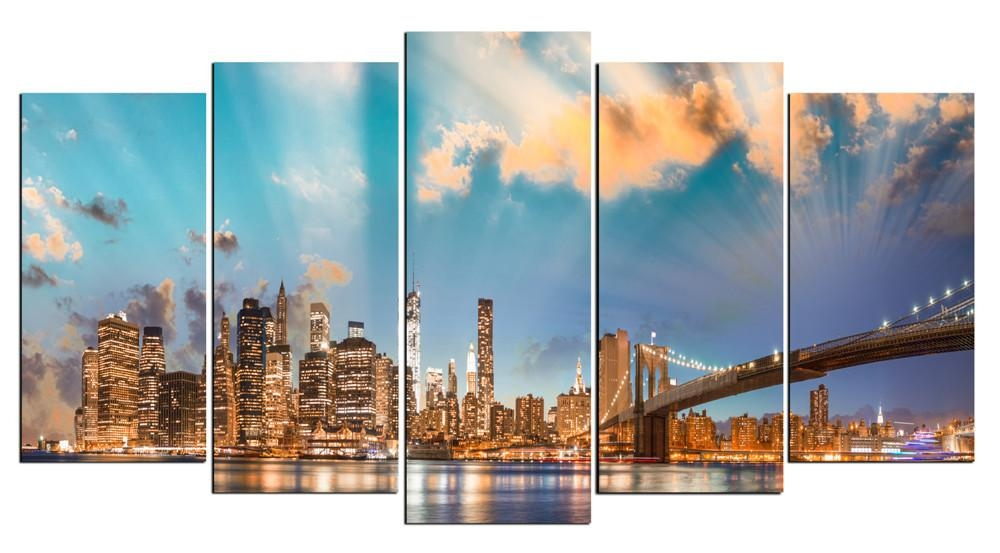 Hd Large Canvas 5 Panels Home Decor Wall Art Painting Prints Of Intended For Houston Canvas Wall Art (Image 5 of 20)