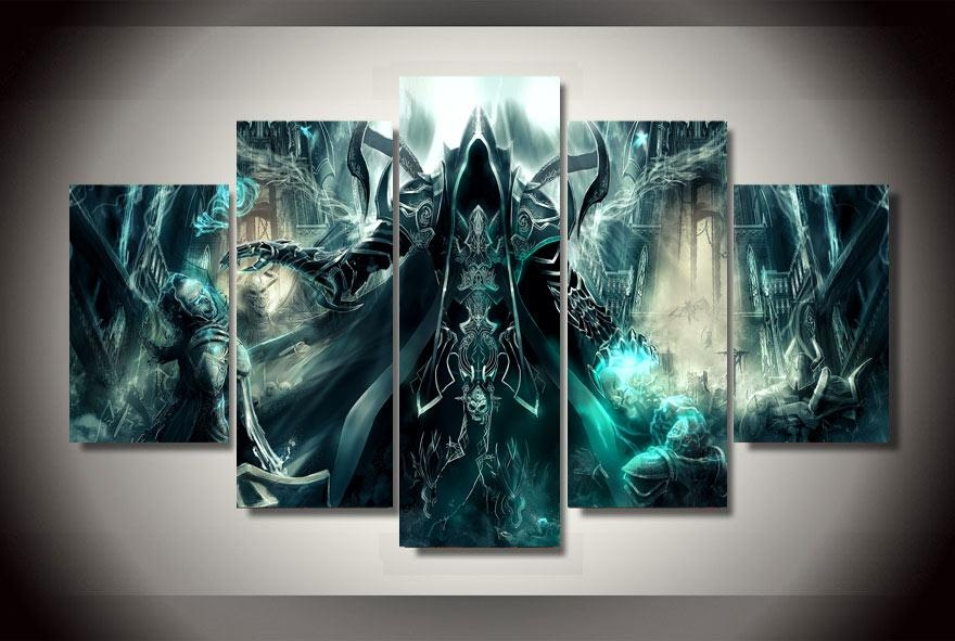 Hd Printed Anime Game Characters Wall Art Canvas Poster Home Decor With Gaming Canvas Wall Art (Image 10 of 20)