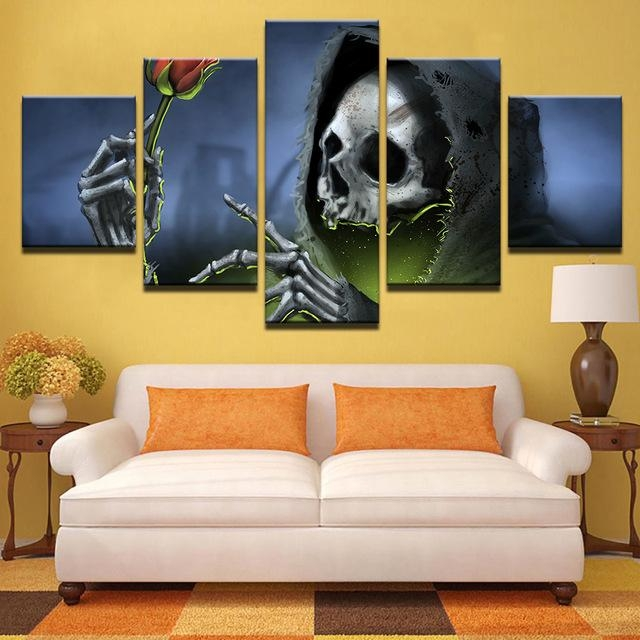 Hd Printed Pictures Bedroom Canvas Wall Art Unframed 5 Pieces With Regard To Bedroom Canvas Wall Art (Image 13 of 20)
