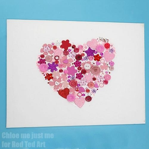 Heart Wall Art For Kids – Red Ted Art's Blog In Hearts Canvas Wall Art (Image 11 of 20)