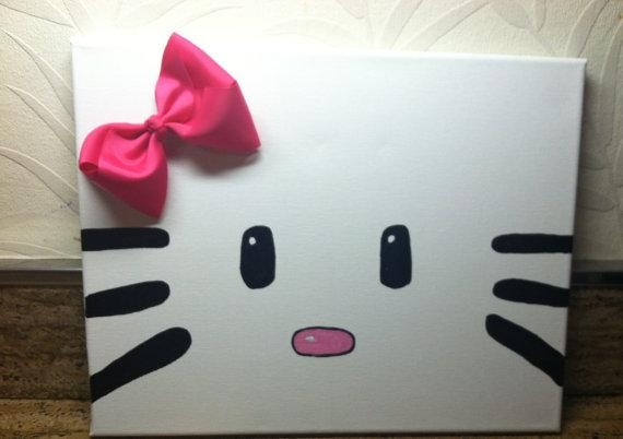Hello Kitty Canvas Wall Art Perfect Forkhloesboutiqueshop With Regard To Hello Kitty Canvas Wall Art (Photo 16 of 20)