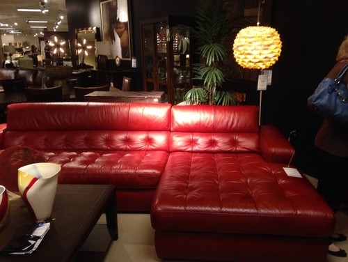 Help Me Decorate Around Red Leather Sectional For Red Leather Sectionals With Ottoman (Image 5 of 10)