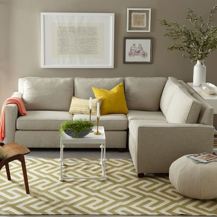 Henry® 3 Piece Sectional | West Elm With West Elm Sectional Sofas (Image 5 of 10)